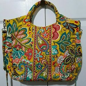 Vera Bradley Bags - Vera Bradley Floral Quilted Crossbody Bag Yellow